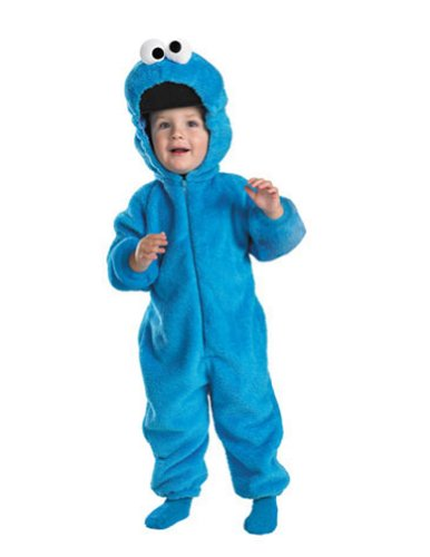 Baby-boys - Cookie Monster Deluxe Toddler Costume 3T-4T Halloween