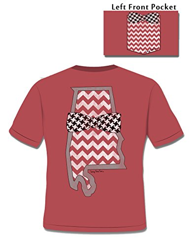 Alabama Houndstooth Distressed - Ladies 2X-Large - Comfort Colors - T-Shirt