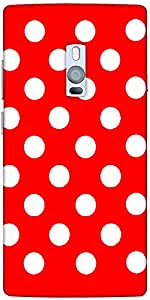 Snoogg Red Polka Dot Designer Protective Back Case Cover For One Plus Two