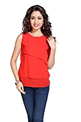 Eighteen 4ever Women's Top (CL004_Red_Large)