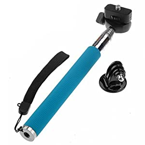 Gopromate(TM) Extendable Handheld Monopod Pole for Gopro Hero 1/2/3 Blue
