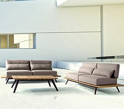 Bizzotto Gartenlounge-sofa Catalina - Exklusiver Moderner 2-sitzer Teak-alu von Bizzotto bei Gartenmöbel von Du und Dein Garten