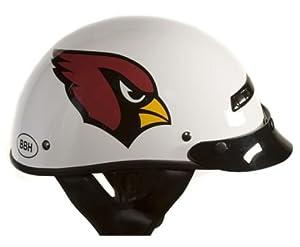 Brogies Bikewear NFL Arizona Cardinals Motorcycle Half Helmet (White, Medium) by Brogies Bikewear