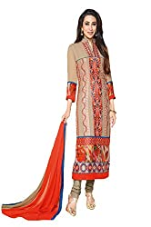 Ombresplash BeigeFIO KK long straight suit dress material