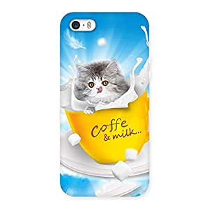 Gorgeous Kitty Coffee Multicolor Back Case Cover for iPhone SE