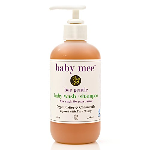 Baby Shampoo And Body Wash - Organic Aloe , Chamomile Flower & Bee Honey . Our Natural Products Are Earth Friendly & Mama Approved Tear , Paraben & Cruelty Free - Great For Big Kids Too 8 Oz
