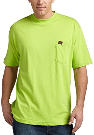 RIGGS WORKWEAR by Wrangler Men's Pocket T-Shirt, Safety Green, XX-Large