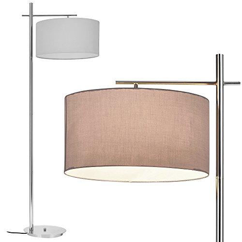 [lux.pro] Lampada da terra - London - (1 x base E27)(175 cm x Ø 46 cm) lampada a stelo lampada da terra stanza salotto nero