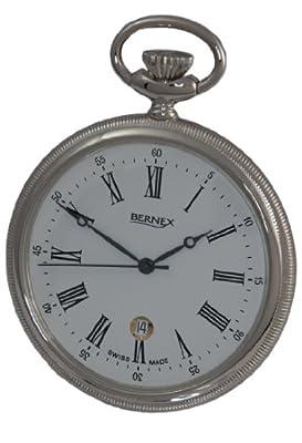 Bernex Pocket Watch GB21209 Rhodium Plated Open Face
