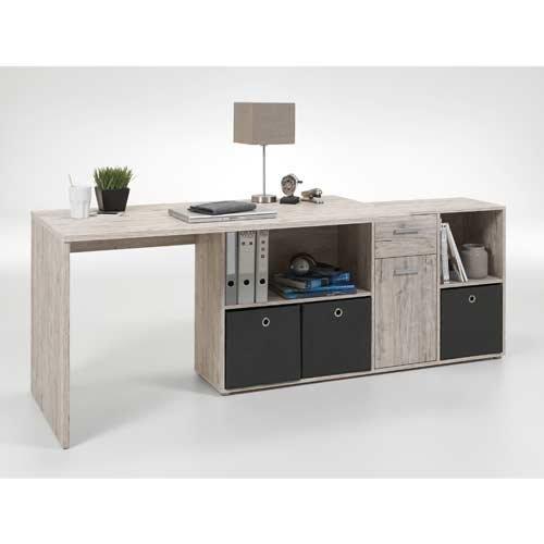 Schreibtisch In Sandeiche Nachbildung Schreibtischplatte