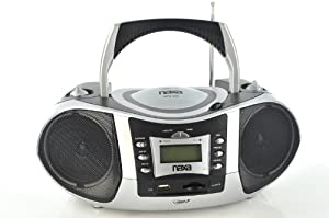 Naxa NPB-250 Portable MP3/CD Player with Text Display, AM/FM Stereo Radio, USB Input & SD/MMC Card Slot