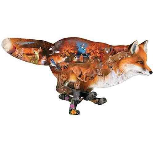 Cheap SunsOut Dennis Rogers Sly Fox Jigsaw Puzzle Shaped (B0014O897W)