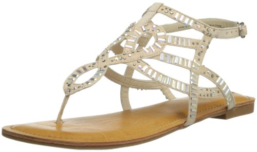Not Rated Women'S Full Speed Dress Sandal,Cream,8.5 M Us