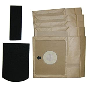 Bissell Zing Canister Vacuum Bags (5 bags + 2 Filters)