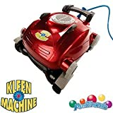 Kleen-MACHINE  Universal Robotic Pool Cleaner stvsugere og Scrubs Pool Floor, Lightweight Design, Works Uavhengig av Pools Filtration System