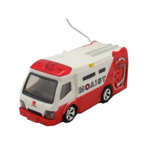 Wl 1:63 5020 Mini Rc Remoto Contorl Racing Car Fire Truck Ambulance Bus (4 Style) Toy Gift for Kid