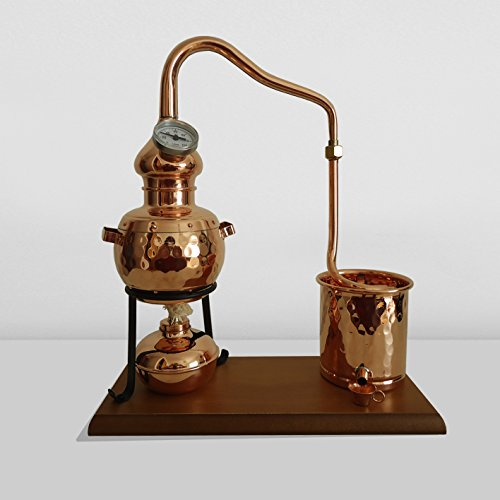 classic-copper-still-07l-with-thermometer-and-wooden-base