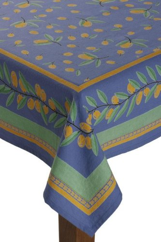 Tablecloth Olives Blue 70