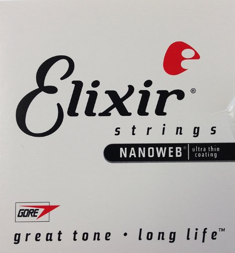 Elixir Nanoweb Electric Guitar Strings .024 4-Pack Singles, 15224