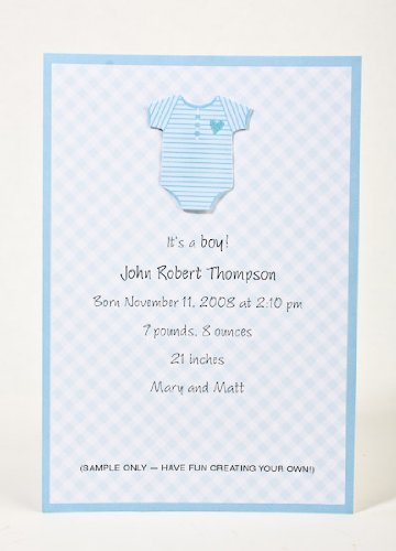Blue Baby Announcement or Baby Shower Printable