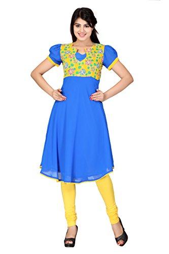 Lifestyle Lifestyle Retail Women Georgette Anarkali (Multicolor)