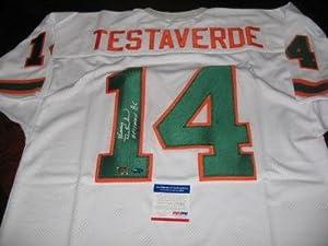 Vinny Testaverde Autographed Jersey - Miami Hurricanes Psa dna - Autographed NFL... by Sports+Memorabilia