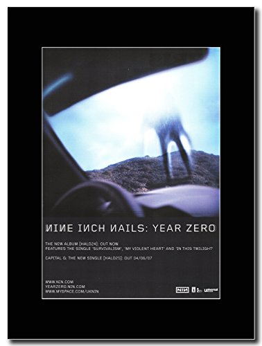 Nine Inch Nails-Year Zero Magazine Promo su un supporto, colore: nero