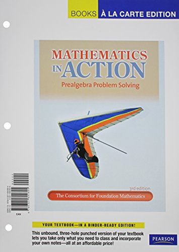 Mathematics in Action: Prealgebra Problem Solving [With Access Code] (Books a la Carte)
