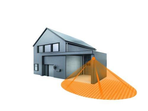 Steinel 602710 Eclairage de Sécurité Extérieur IS 240 avec Support d'Angle PVC Noir 15 x 9 x 7,6 cm