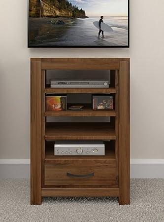 Oak Furniture House - Armario para dispositivos de entretenimiento, color nogal