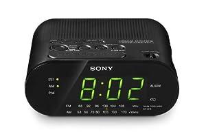 Sony ICF-C218 Automatic Time Set Clock Radio (Black)