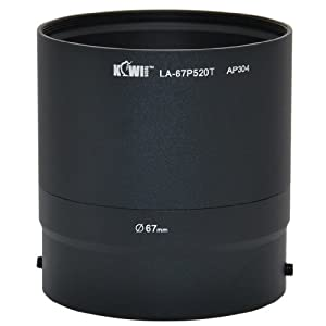 Kiwifotos LA-67P520T filtre objectif adaptateur pour Nikon Coolpix P510, P520, P530 - 67mm