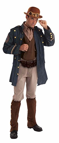 Steampunk General Mens Costume Adult Standard Size Victorian Halloween 3 Pieces