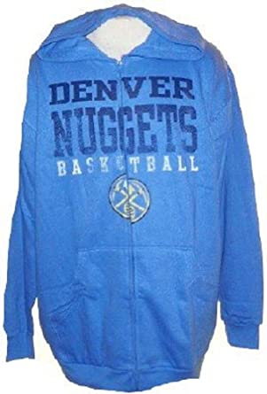 Denver Nuggets Big & Tall Fade Away Full Zip Hooded Sweatshirt by Majestic