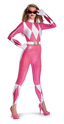 Mighty Morphin Power Pink Ranger 2nd Skin Bodysuit Adult Costume Size:large (12-14)