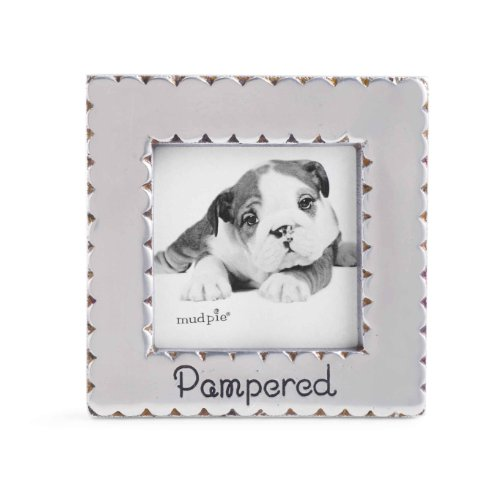 Mud Pie Pampered Square Scallop Photo Frame - 1