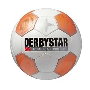 Derbystar Ballon de football pour jeu en intérieur Flash Pro Blanc orange 4