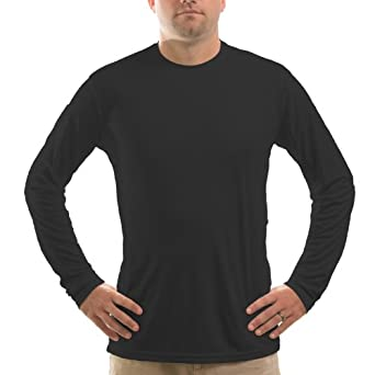 Vapor Apparel Men's Solar Performance UPF Long Sleeve T-Shirt X-Small Black
