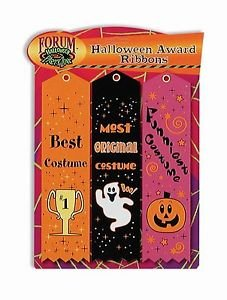 3 Halloween Party Award Ribbons Best Costume Contest Best Funniest Most Original (Dog Halloween Costume Contest)