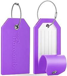 Travelambo Silicone Luggage Tags & Bag Tags & Cruise Tags (purple)