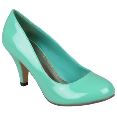 Hailey Jeans Co Womens Round Toe Patent Pumps (8 B(M) US, Mint)