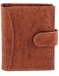 Leather Genuine Leather Soft Leather Credit Card Holder 22 Cards - TAN (AMZSL523) MEGA DISCOUNT