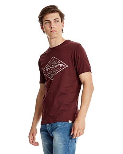 Lee Cooper T-Shirt Manica Corta [Bordeaux]