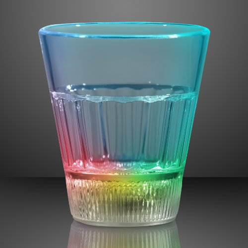 Color Changing Led Crystal Style Shot Glass