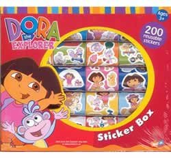 Dora the Explorer boxed sticker rolls -200+ Stickers