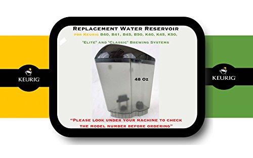 Replacement Water Reservoir for Keurig B40, B41, B44, B45, B50, K40, K45, K50,