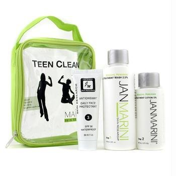 Teen Clean 5% Set: Skin Wash 119ml/4oz + Acne Treatment Lotion 60ml/2oz + Protectant 30ml/1oz - Jan Marini - Day Care - 3pcs