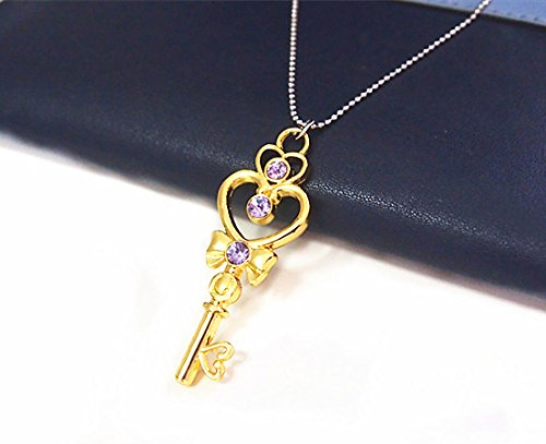 Sailor Moon Cosplay Mars Jupiter Mercury Venus Make Up Pendant Gold Necklace Toy C# - 1