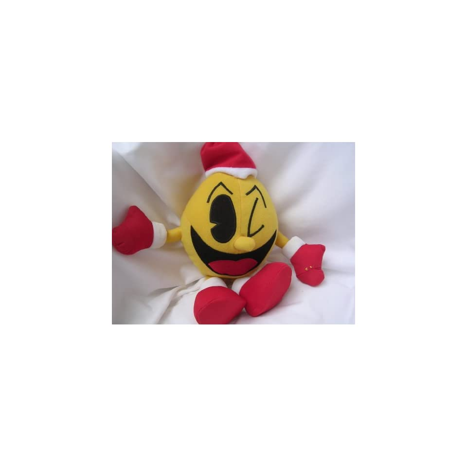 Pac Man Christmas Plush Toy Collectible 15 PacMan