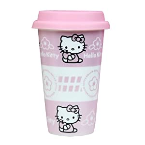 Hello Kitty Flower Princess Ceramic Starbucks Bottle Drinking Cup Pink